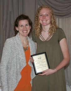 Jennifer Candler presented the Family Consumer Science Award to freshman Hannah Wylie.