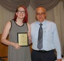 Lara Glennon with David Cable-Murphy. Lara was the recipient of the Digital Media and Communications award