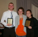 Chris Penney and Brianna Peppino received Family/Consumer Science Awards from Ms. Candler
