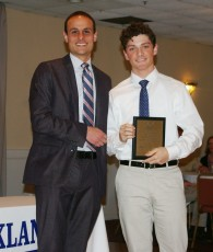 Dr. Harrison presented Ronan McNally with the prestigious Overall Academic Achievement Award for Grade 11.