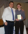 Ryan Struzziery and Mr. Damon. Sturzziery was an award winner in the Music Department