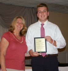 Ryan Kelley received the Grade 11 Tech Ed. Award