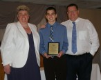 Tyler Beatrice received a Grade 10 Multi-Award in Mathematics, Science and Pre-Engineering/Robotics