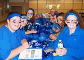 The Spirit Committee is ready to take part in more activities at SGC camp on Weds. August 9.