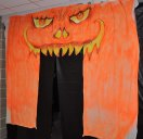 The entrance to the Haunted Hallway at Rockland High School's Project Pumpkin.