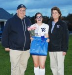 Erin Field with her parents, Caroline and Lee Field.