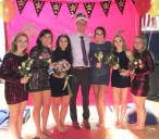 Hope Geary, Avery Ewell, Natalie Draicchio, Chris Penney, Hannah Boben, Kaylyn Monet and Caitlin Cameron at the Homecoming Dance last year.