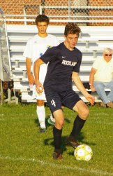 Sophomore Andre Coste in Hull game.