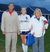 Jaymie Atkins and her parents, Brenda and John Atkins.