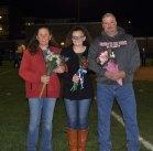 Sydney McKenna with her parents, Sheila and David McKenna.