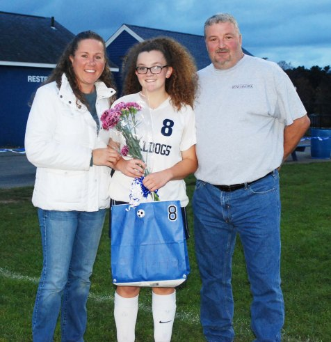 Sydney McKenna with her parents, Sheila and David McKenna.