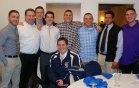 Coach Flaherty present and former RHS hockey players came to support him at his Hall of Fame induction on Saturday night.