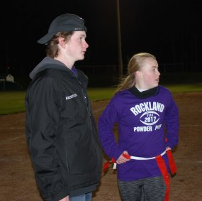 CJ Armstrong and Caitlyn Cameron discuss the offense for the juniors.