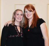 Stephanie Crawford, Class of 2008 (left) and Jessica Mellen Devereaux, Class of 2008, basketball teammates were inducted into the Hall of Fame on Nov. 18 at the Rockland Golf Course.