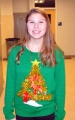 SGC's Historian, junior Marissa Smith in a festive sweater