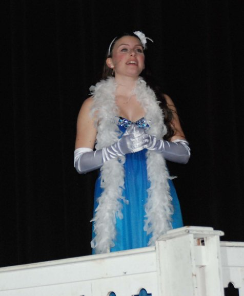 Freshman Emily Garoriault played Roz in her Theater Guild debut at Rockland High School.