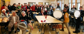 The band winds up their field trip at the Robert J. Nyman Senior Center in Rockland.