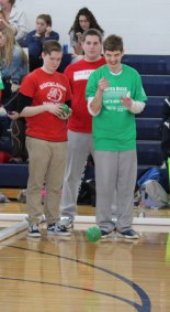 Madison Parlee and Nick Cara participating in the Bocce Tournament