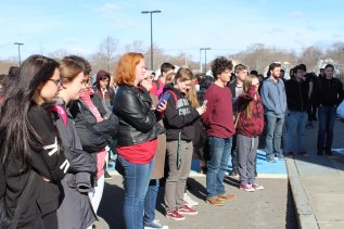 Approximately 300 RHS students participated in the 17 minute walkout on March 15