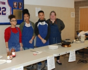 Mrs. Donovan's cooking students made crepes for attendees of the arts festival. Veritas photo