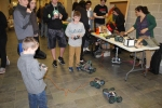 These were created by students in the robotics classes. Kids love playing with them. Veritas photo