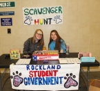 The student government conducted a fun scavenger hunt for kids. Caitlyn Cameron and Marissa Smith .