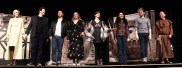 The cast from left: Liz Adams, Alex Narcotta, David Makransky, Meghan Hornblower, Rachel Tondreault, Elizabeth Loranth, Tyler Rosati and Steven Vaughan.