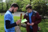 Joe Naughton and Sean Sugrue at one of the ecostations at the Environthon on May 18
