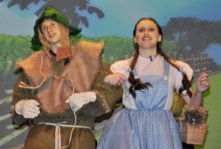 The Scarecrow and Dorothy are off to see the Wizard