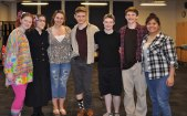 Senior in the cast of the Wizard of Oz: From left: Jocelyn Reera, Erin Field, Stephanie Blaney, Ryan Mott, Maddie Parlee, Ryan Struzziery and Rebekah Panaro.