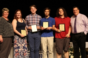 Grade 10 multi award winners: From left: Kerin Dalton, Oliver Reera, Zack Belcher and Austin Wood.