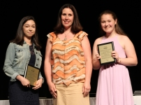 Grade 10 world language winners: Nicolle Ligia Gudiel Winter and Kathryn Buckley