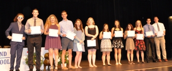 Math Team members received awards for an outstanding year.