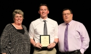 Ms Paulding and Mr Damon with junior, John Ellard who was named Overall Academic Achiever of the Junior Class.