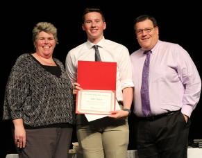 John Ellard III received the Rensselaer Medal for outstanding achievement in math and science. Presented by Ms. Paulding and Mr. Damon