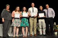 Boys/Girls State attendees: Emmy Kelley, Sarah Pollard, John Ellard, and Justin Sherlock