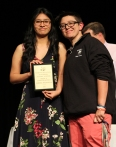 Ms Hoyo and sophomore, Lorena Soldevila who received