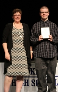Ms Hoffman with junior Matthew McPartlin who won the Math Achievement award for Grade 11