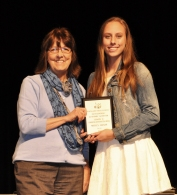 Ms Lannin-Cotton with junior, Molly Grass who won the Digital Media Award for Grade 11.