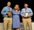 Juniors Dan McHugh and George Selados with Ms Folsom