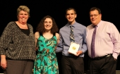 Tyler Beatrice and Sarah Pollard received the St. Michael's Book Award for Academic Achievement with a social conscience.