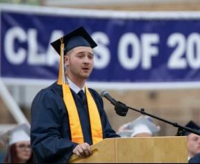 Class President Zach Peterson