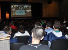 Presentation for 8th graders in the RHS auditorium