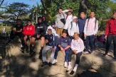 The boys soccer team supported the Making Strides Against Breast Cancer Walk on Sunday, Sept. 30.