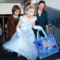 Cinderella is ready to do some trick or treating.