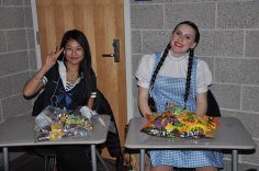 Emily Gaboriault as Dorothy and Miku Yoshioka (photo by Ari Esposito)