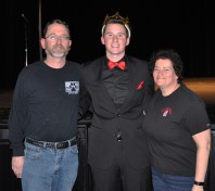 John Ellard and his parents after the show