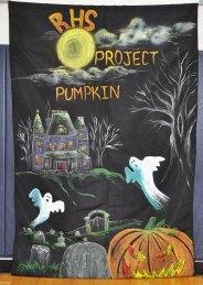 Project Pumpkin 2018 poster made by Sarah Pollard photo by Danting Zhu