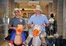 Matthew Bruzzese and John Ellard riding their ostriches. photo by Arianna Esposito.