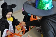 Mickey Mouse claiming some candy from an RHS witch. photo by Arianna Esposito